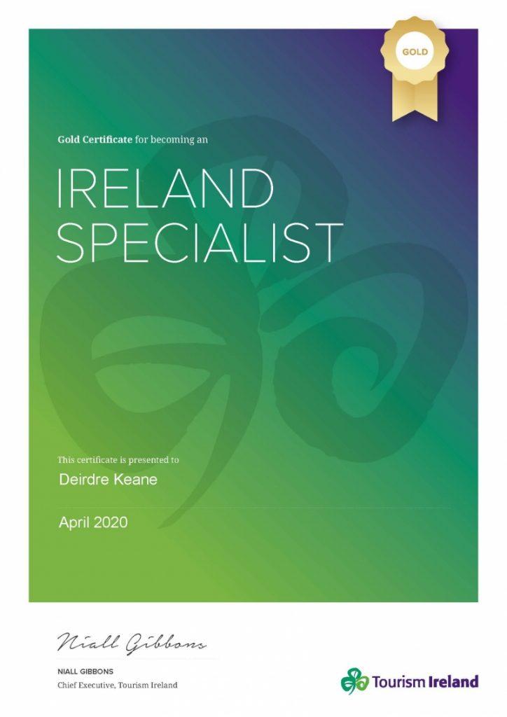 Ireland-Specialist_Gold-Certificate_Deirdre-Keane_Tourism-Ireland_April2020-800x1131